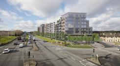 Switch: An artist's impression of the McGrath Property Group's proposed apartment scheme in Palmerstown, Dublin 20
