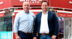 Gino's Gelato co-owners and founders Anthony Murphy and Jonathan Kirwan. Photo: Justin Farrelly