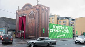 The 'drive-through' confession box stunt by bookmaker Paddy Power.