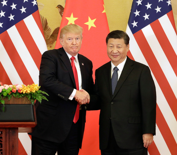 US President Donald Trump with Xi Jinping China's President