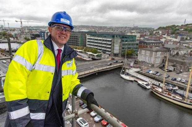 O'Callaghan Properties MD Brian O'Callaghan pictured on site at Navigation Square at Albert Quay in Cork City