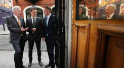 Ronan Murphy, chairman of Greencoat Renewables with Bertand Gautier and Paul O'Donnell, partners of Greencoat Capital, Investment