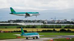 Aircraft landing at Dublin Airport, which is the standout perfomer in the Irish market, and a major player in the hub and transatlantic markets. Photo: Bloomberg