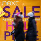 Sales force: Next, which already has 28 stores in Ireland, said failure to strike a deal could see prices rise by 0.5pc
