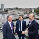 Pictured at Grant Thornton's HQ are (l-r): managing partner Michael McAteer; Federico Fabbrini, director of the DCU Brexit Institute and professor of European Law at the School of Law & Government; and DCU President Prof Brian MacCraith.
