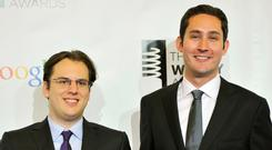 Instagram founders Mike Krieger, left, and Kevin Systrom have said they were 'planning on taking some time off to explore our curiosity and creativity again'