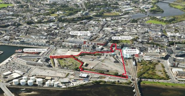 Project: An aerial view of the Project Ceannt site in Galway City