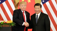 US President Donald Trump with Xi Jinping, China's President. Photo: Bloomberg