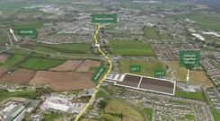 An aerial view of the Co Offaly site