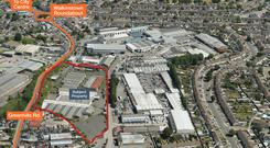 Developer demand: The 6.8-acre site on the Greenhills Road in Walkinstown is zoned 'Regen' which would facilitate enterprise and/or residential-led regeneration including offices and a hotel. Joint agents Savills and Agar Commercial are seeking offers in excess of €3m