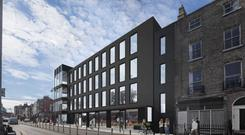 Pre-let: The Lennox Building occupies a prime position at the corner of South Richmond Street and Lennox Street in Dublin 2. The property is being developed by developer Paddy McKillen Jr's Oakmount
