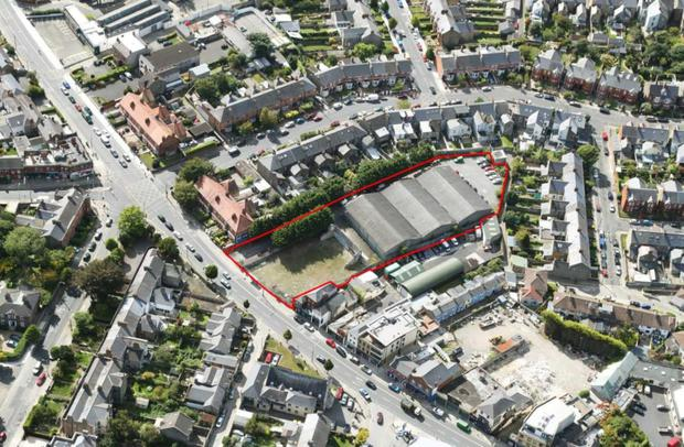 An aerial view of the former Classic Cinema site