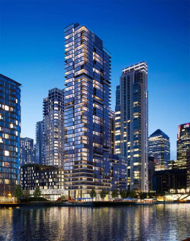 An artist's impression of the proposed scheme in London