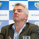 Ryanair CEO Michael O'Leary expects the airline's profits to be 12pc lower this financial year than previously anticipated. Photo: Bloomberg
