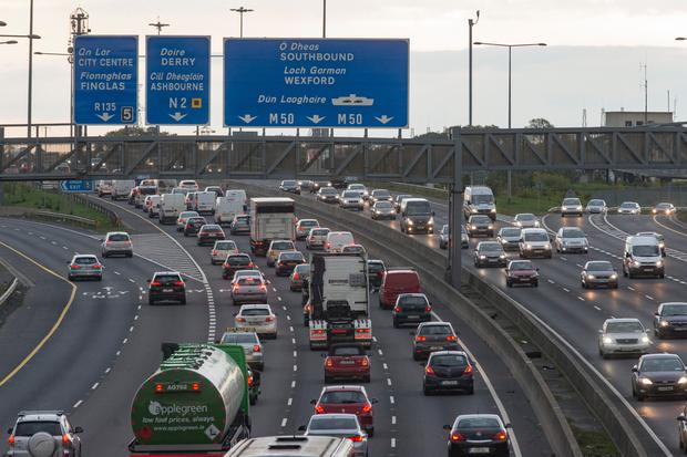 On average 136,000 vehicles use the tolled section of the M50 every day. Photo: Arthur Carron