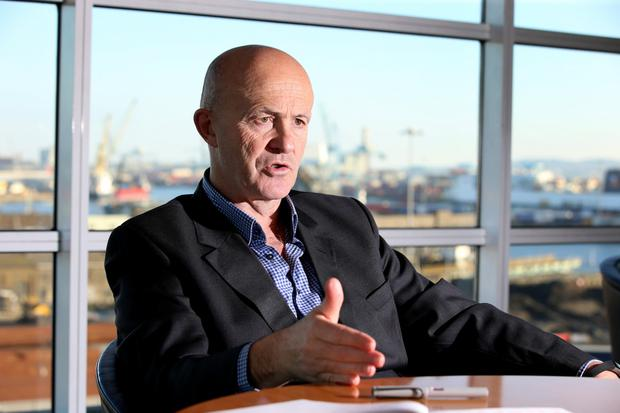 Buoyant: Chief executive Eamonn O'Reilly says volumes at Dublin Port are 23pc higher than they were in 2007