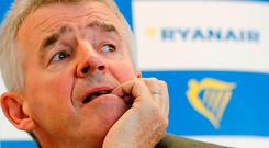 Pressure: Ryanair CEO Michael O'Leary believes that more airlines will go bust this winter as high fuel prices bite