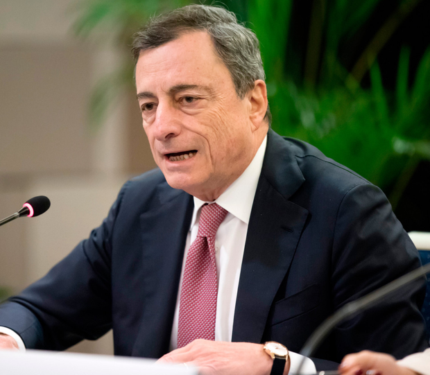 "ECB president Mario Draghi blamed a ""quasi-monopoly"" among banks here for the high mortgage rates."