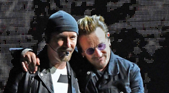 The Edge and Bono are co-owners of the Clarence. Photo: Getty