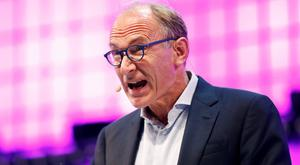 World Wide Web Inventor Tim Berners-Lee speaks during the inauguration of Web Summit