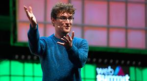 Paddy's Day: Paddy Cosgrave gestures on stage during the opening of the Web Summit in Lisbon