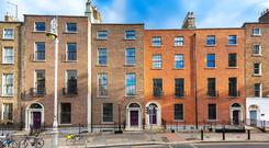 Prime period: The Baggot Buildings, comprise four Georgians at 19-22 Lower Baggot Street, is expected to attract a range of investors