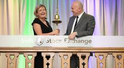 EU owner: Former ISE CEO Deirdre Somers and Stephane Boujnah, CEO of Euronext, in Dublin last year