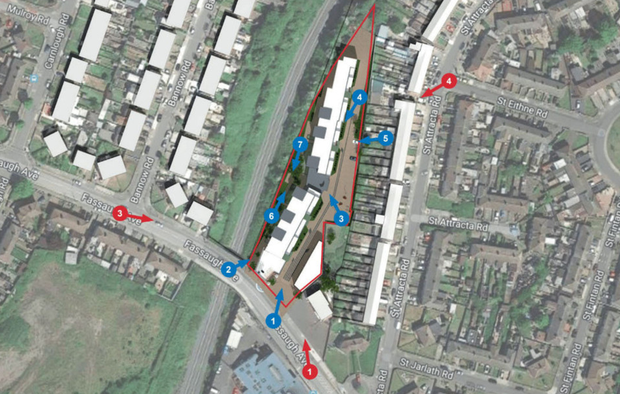 Aerial view of the proposed student accommodation scheme on Fassaugh Ave in Dublin 7