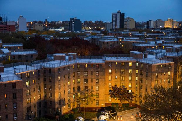 Meet the neighbours: The Queensbridge Houses are home to a population with a median household income below America's federal poverty level