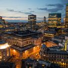 Capital fight: The Bank of England at dusk in the City of London – sterling took a hammering over much of the day yesterday