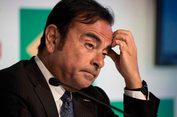 Downfall: Carlos Ghosn, chairman of Nissan and chairman and chief executive of Renault