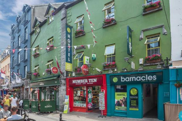 Barnacles Hostel Galway is on Quay Street within the city's Latin Quarter