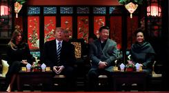 Trade on the menu: US President Donald Trump and Chinese leader Xi Jinping, pictured together last year, are to have dinner in Argentina
