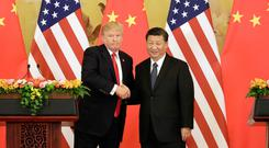 US President Donald Trump and Chinese President Xi Jinping Photo: Bloomberg