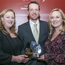 Journalists Dearbhail McDonald, Shane Phelan and Samantha McCaughren with their award for Business Story of the Year