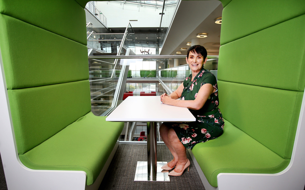 In the big seat: Carolan Lennon, Chief Executive Officer of Eir. Photo: Steve Humphreys