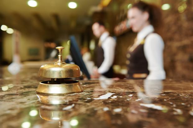 'The survey noted that while 73pc of hotels have seen some increase in overall business this year, growth from the United States and mainland Europe has masked a poor performance of the UK market, with visitor numbers from there down 5pc.' (stock photo)