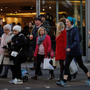 Shoppers on London's Oxford Street following weak outlooks from major names in British retail ahead of Brexit