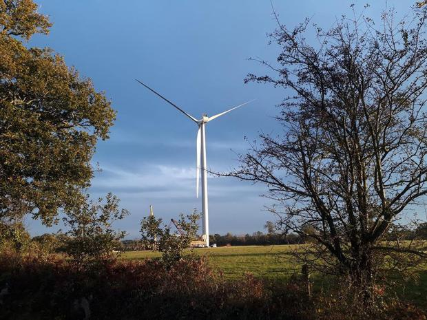 Entering production: the Bricqueville wind farm in Normandy which NTR has acquired from RES Group