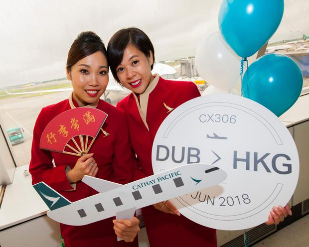 Cathay Pacific commenced direct flights from Dublin to Hong Kong.