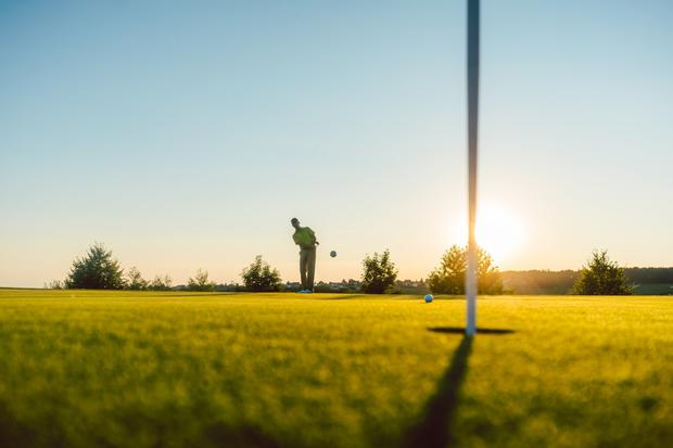 In the swing: The VoxGolf app allows players to set up and join in games on courses, so they can compete with anyone playing there. Stock image