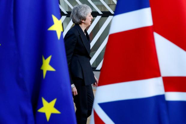 Slowdown: Uncertainty over British PM Theresa May's Brexit deal has hit UK growth. Photo: Reuters