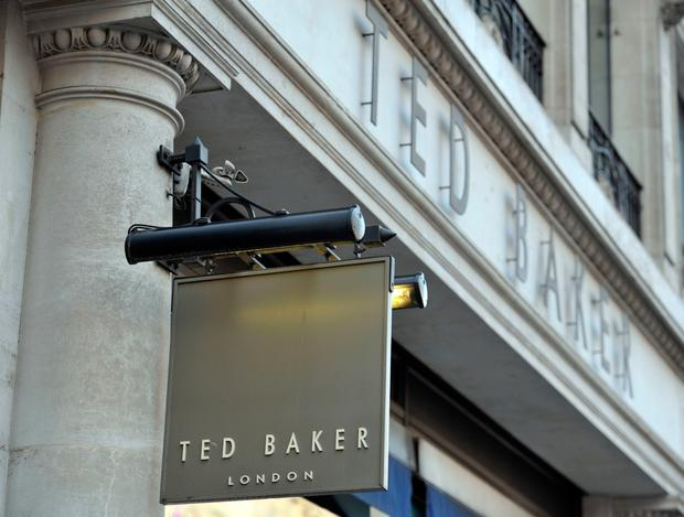 bc9632826cff Sales boost for Ted Baker. Ted Baker store in central London