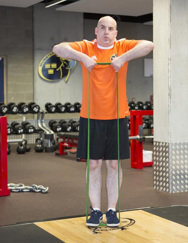 A big stretch: Donal is put through his paces at Munster's High Performance Centre