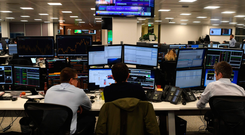 Traders at work in the offices of IG markets in the City of London as the pound bounced back from the Brexit hit it took in 2016. Photo: AFP/Getty