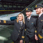 Aer Lingus flight crew at the airline's rebrand in Dublin last week. Pic:Naoise Culhane-no fee