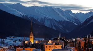 High society: the Swiss town, which is the highest in Europe, will host the annual summit this week. Photo: Reuters