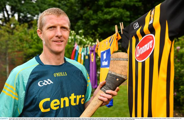 Sport support: Former Kilkenny hurler Henry Shefflin at a Centra hurling event last year