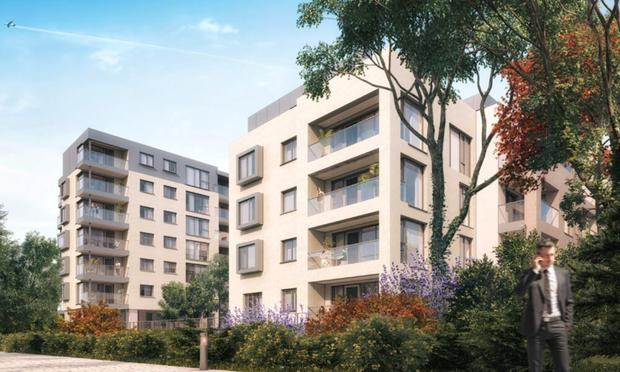 Prime pitch: Herbert Hill is located on Sandyford Road directly opposite the Dundrum Town Centre and within a short walk of the Balally stop of the Luas green line