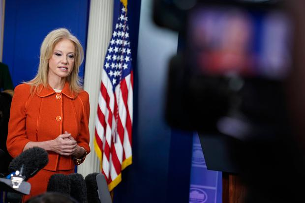 Hopeful: White House senior counsellor Kellyanne Conway